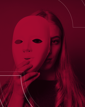 Woman with mask-1